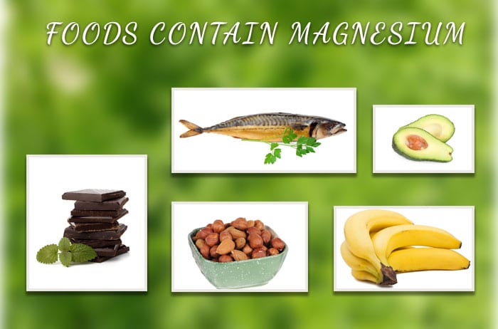 Foods contain magnesium